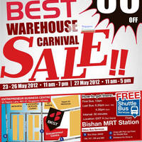 Read more about Best Denki Warehouse Carnival Sale Up To 80% Off 23 - 27 May 2012