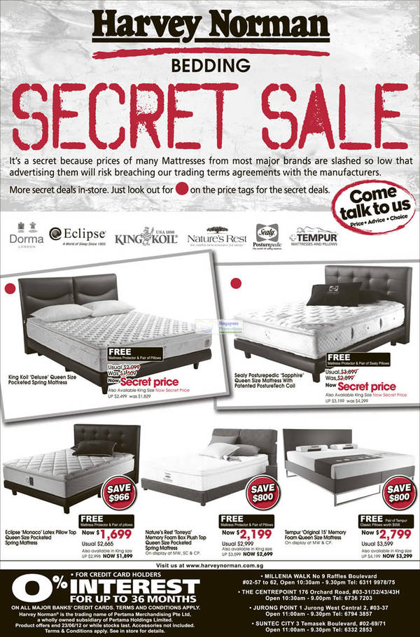 Sealy Posturepedic Sapphire Mattress, Eclipse Monaco Mattress, Nature's Rest Torreya Mattress, Tempur Original 15 Mattress