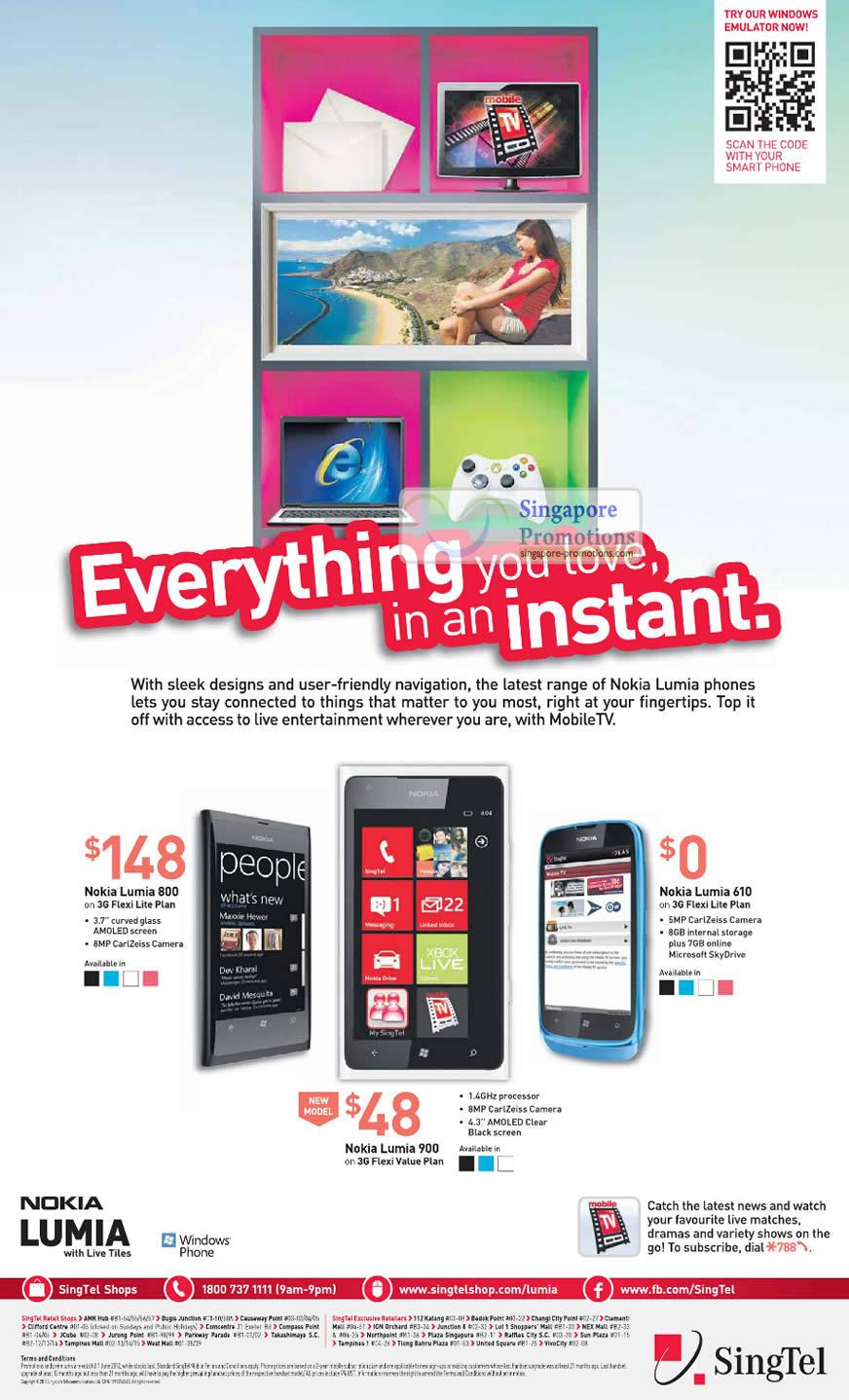 Nokia Lumia 800, Nokia Lumia 900, Nokia Lumia 610