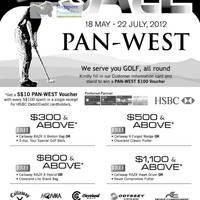 Read more about Pan-West Golf Sale 18 May - 22 Jul 2012