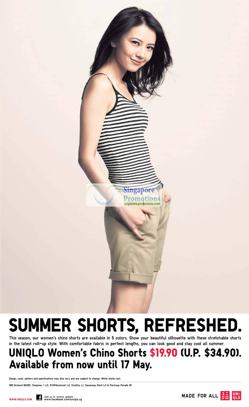 Womens Chino Shorts