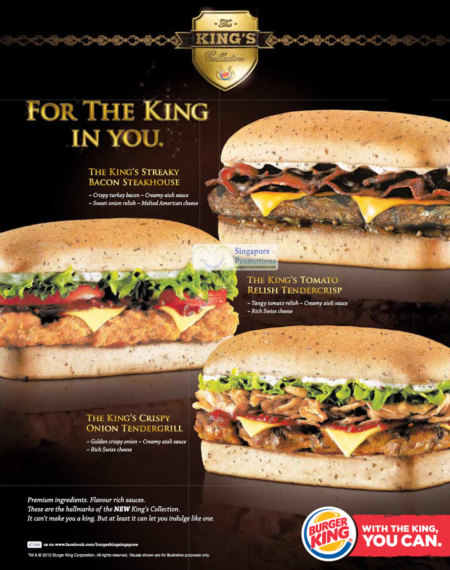 Burger King New King's Collection Burgers 14 Jun 2012