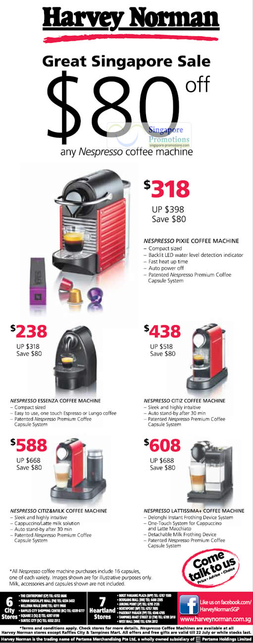 Coffee Machines, Nespresso Pixie, Essenza, Citiz, Latissima Citiz ...