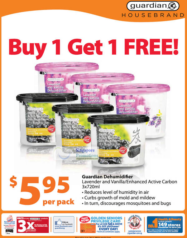 Guardian Dehumidifier, Lavender and Vanilla, Enhanced Active Carbon