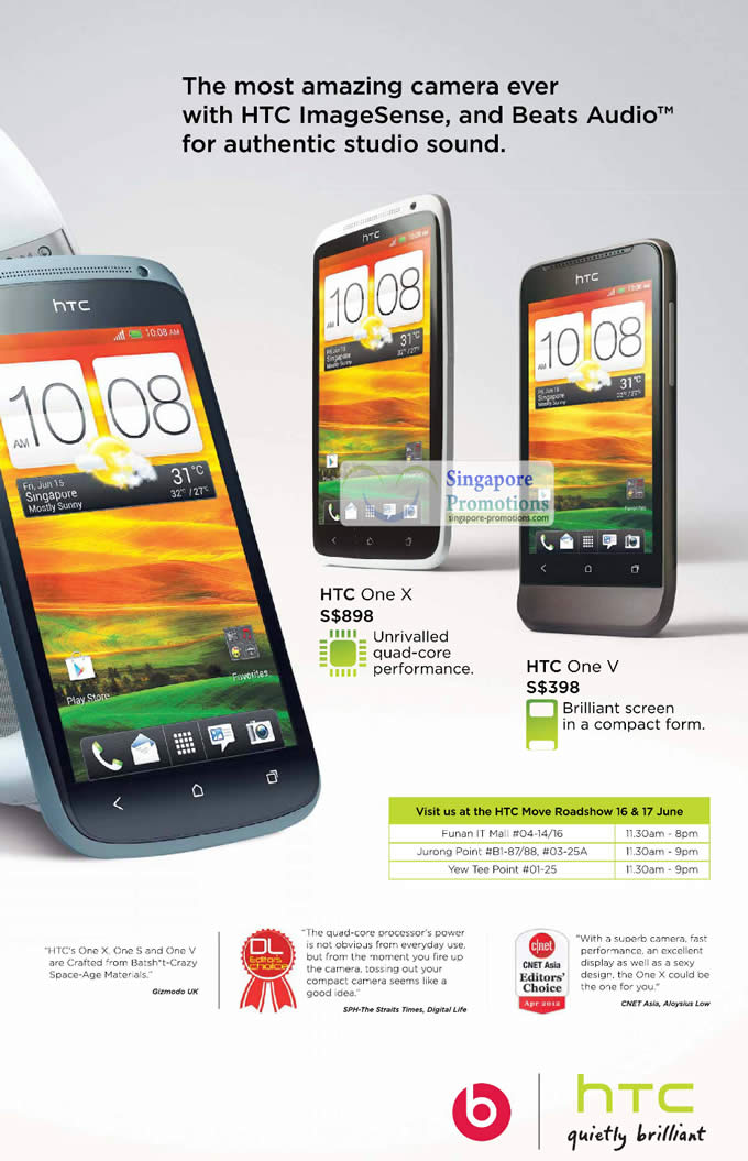 HTC One X, HTC One V, Roadshows