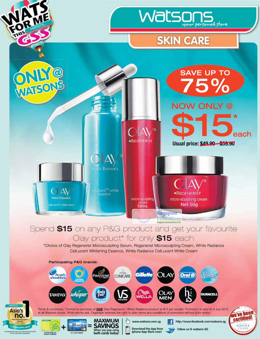 Olay Regenerist Microsculpting Serum, Regenerist Microsculpting Cream, White Radiance CeiLucent Whitening Essence, White Radiance CeiLucent White Cream