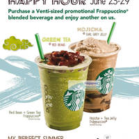 Read more about Starbucks Singapore Frappuccino 1 For 1 Promotion 25 - 29 Jun 2012