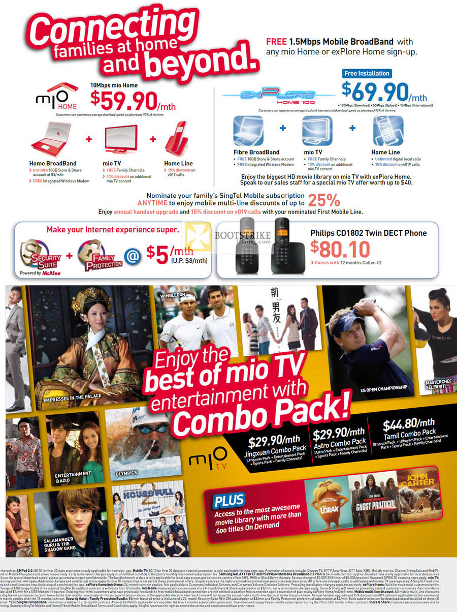 TV Mio TV, Mio Home, Explore Home 100, Philips CD1802 Dect Phone, Combo Pack