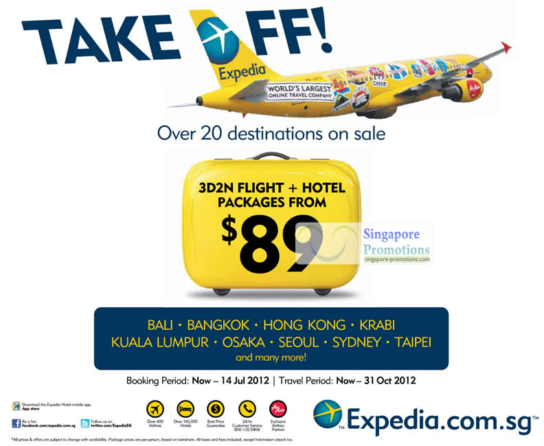 10 Jul Expedia Sale Details