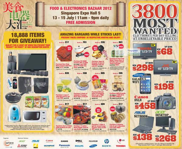 11 Jul Toshiba 24 LCD TV, JVC, Samsung Galaxy S, Canon DSLR, ASUS Netbook, Acer Desktop