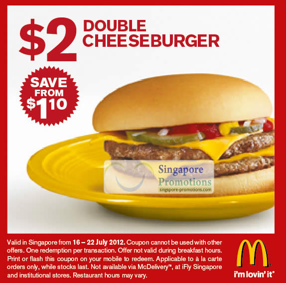 Mcdonalds coupons australia