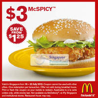 Read more about McDonald's Singapore $3 McSpicy, $2 Double Cheeseburger & $2 6pc McNuggets Coupons 16 - 22 Jul 2012