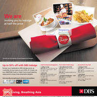 Read more about DBS/POSB 1 for 1 Dining Deals & Up To 50% Off Dining Deals 27 Jul 2012
