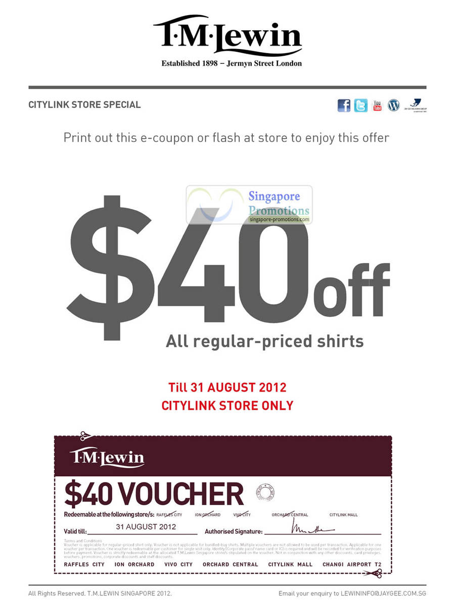 Citylink Store 40 Dollar Off Shirts Coupon
