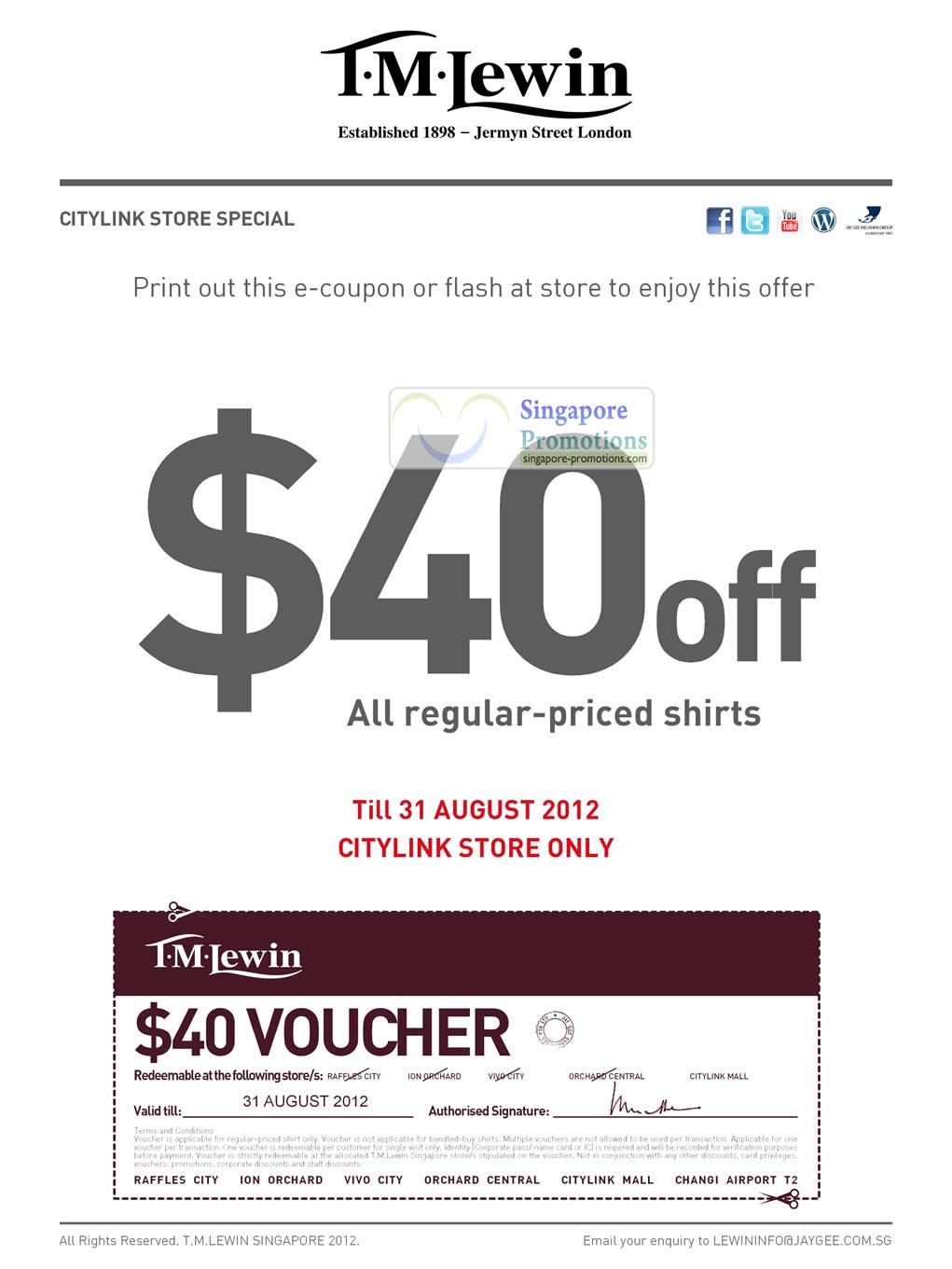 Citylink Store 40 Dollar Off Shirts Coupon