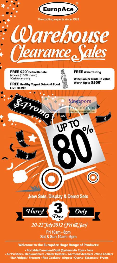 EuropAce Warehouse Sale Details