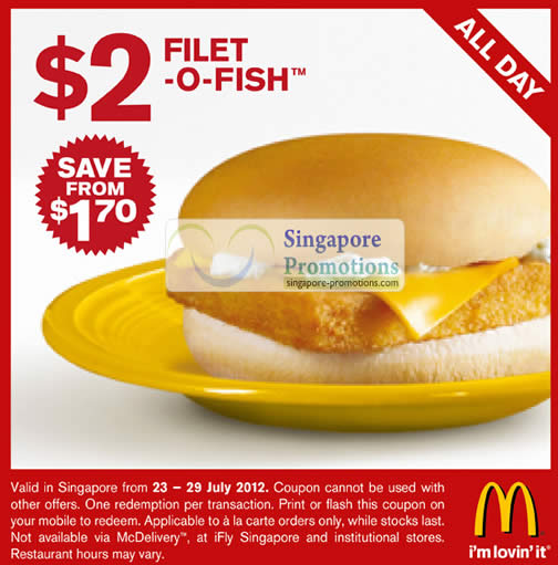 Filet o fish all day coupon mcdonald s singapore for How many calories in a mcdonald s fish sandwich