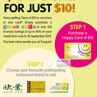 Read more about Tung Lok 40% Off Meals Dining Cards Promotion 2 Jul - 30 Sep 2012