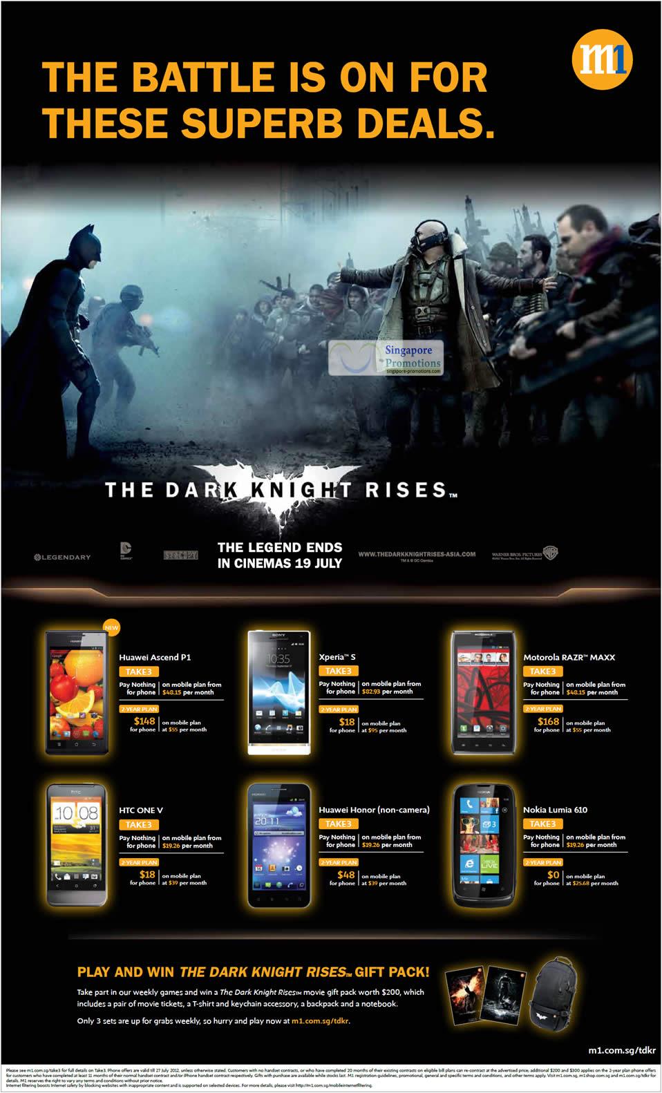 Huawei Ascend P1, Honor, Sony Xperia S, Motorola Razr Maxx, HTC One V, Nokia Lumia 610