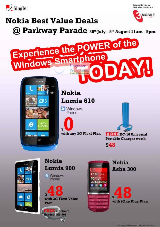 Nokia Lumia 610, Nokia Lumia 900, Nokia Asha 300