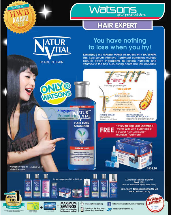 NATUR VITAL Hair Loss Serum, NaturVital Hair Loss Shampoo