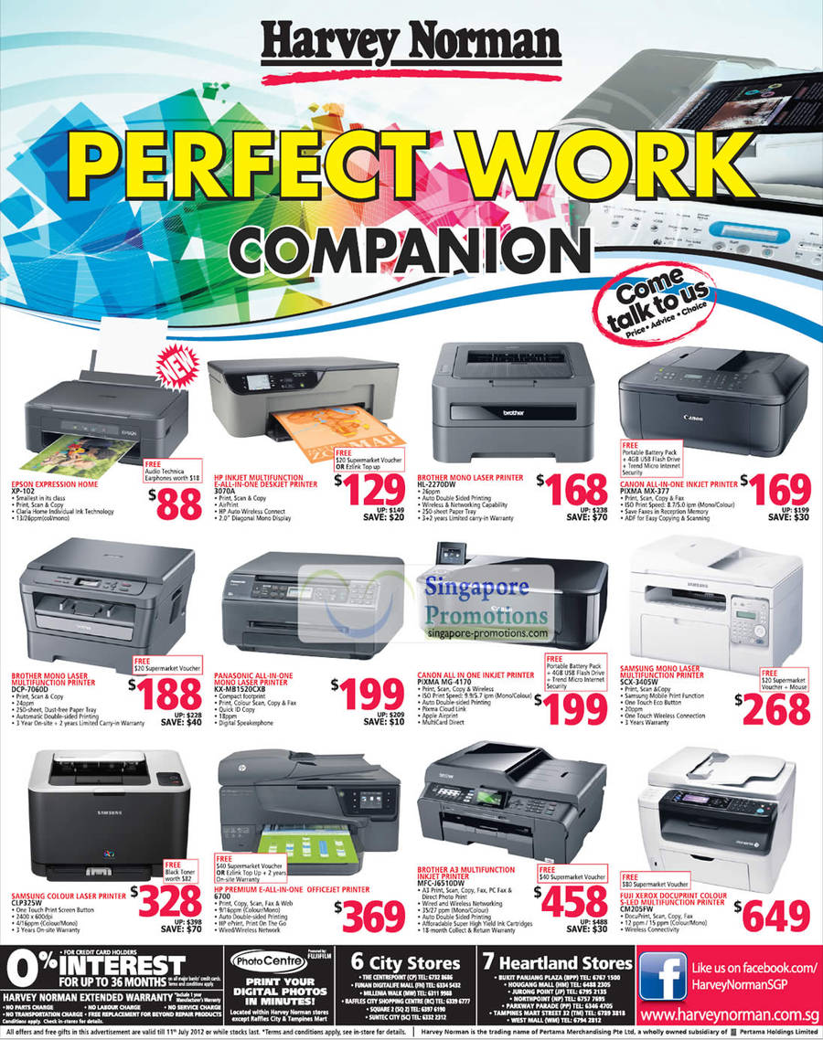 EPSON Expression Home XP-102, HP Inkjet DESKJET Printer 3070A, BROTHER Laser Printer DCP-7060D, PANASONIC Laser Printer KX-MB1520CXB, SAMSUNG Colour Laser Printer CLP325W, HP PREMIUM Officejet Printer 6700, BROTHER Inkjet Printer MFC-J6S10DW, CANON Inkjet Printer Pixma MG-4170, FUJI XEROX S-LED Printer CM205FW, SAMSUNG Laser Printer SCX-3405W, BROTHER Laser Printer HL-2270DW, CANON Inkjet Printer Pixma MX-377