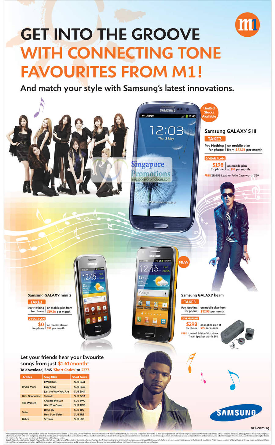 Samsung Galaxy S III, Samsung Galaxy Mini 2, Samsung Galaxy Beam