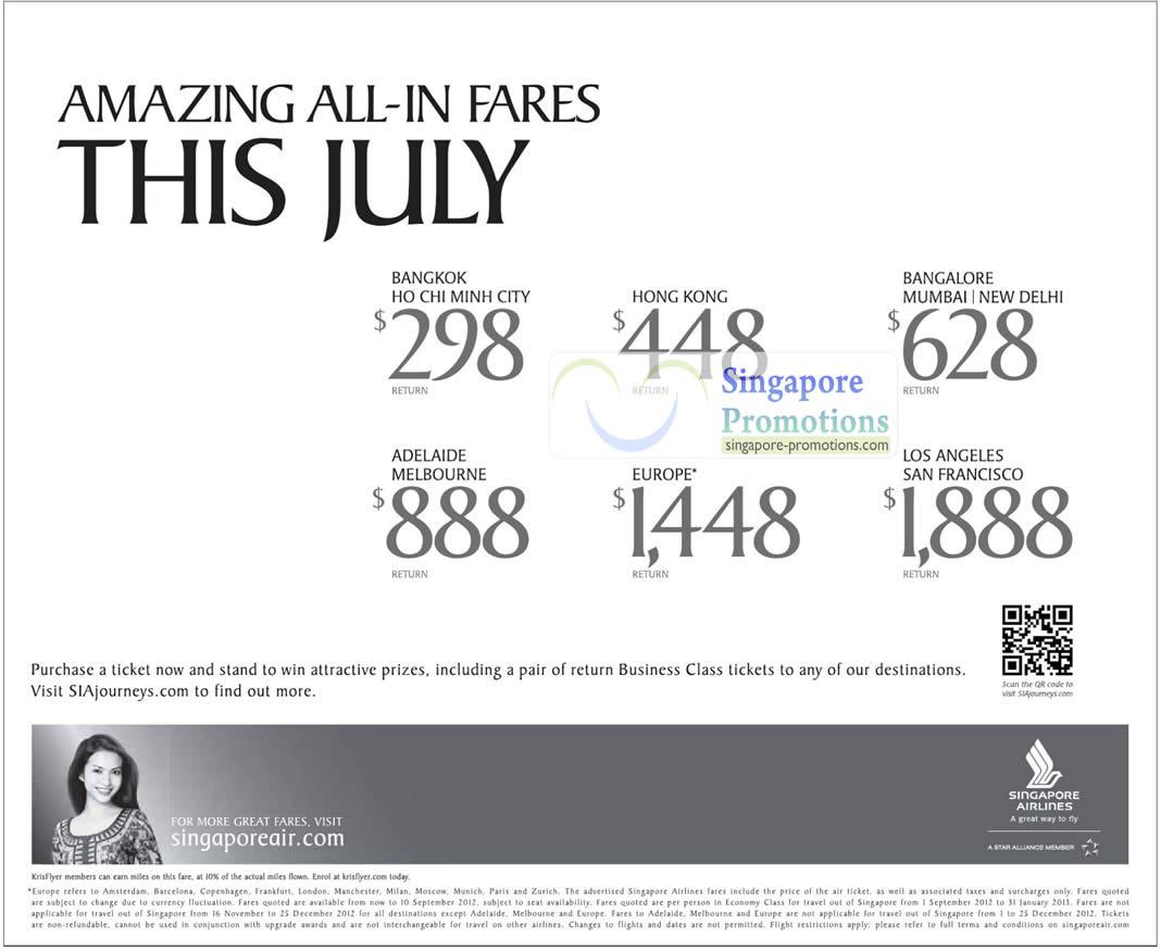 Singapore Airlines 20 Jul 2012