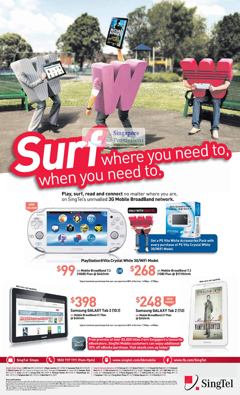 Sony PlayStation Vita, Samsung Galaxy Tab 2 10.1, Samsung Galaxy Tab 2 7.0