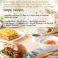 Read more about Starbucks Singapore New Lunch Spread Options @ Selected Outlets 16 Jul 2012