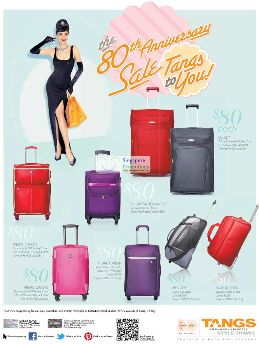 28 Aug Luggage 80 Dollar Offers » Tangs 80th Anniversary Sale $80 ...