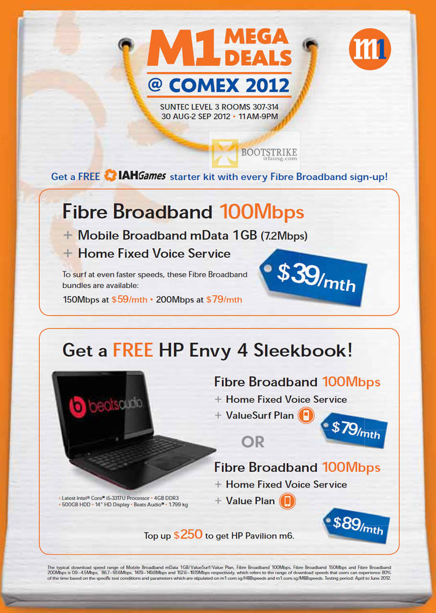 Broadband Fibre 100Mbps 39 Dollar Mobile Broadband, Fixed Voice, Free HP Envy 4 Sleekbook Notebook