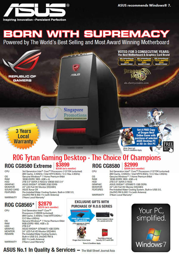 Asus ROG CG8580 Extreme Desktop PC, Asus ROG CG8565 Desktop PC, Asus ROG CG8580 Desktop PC