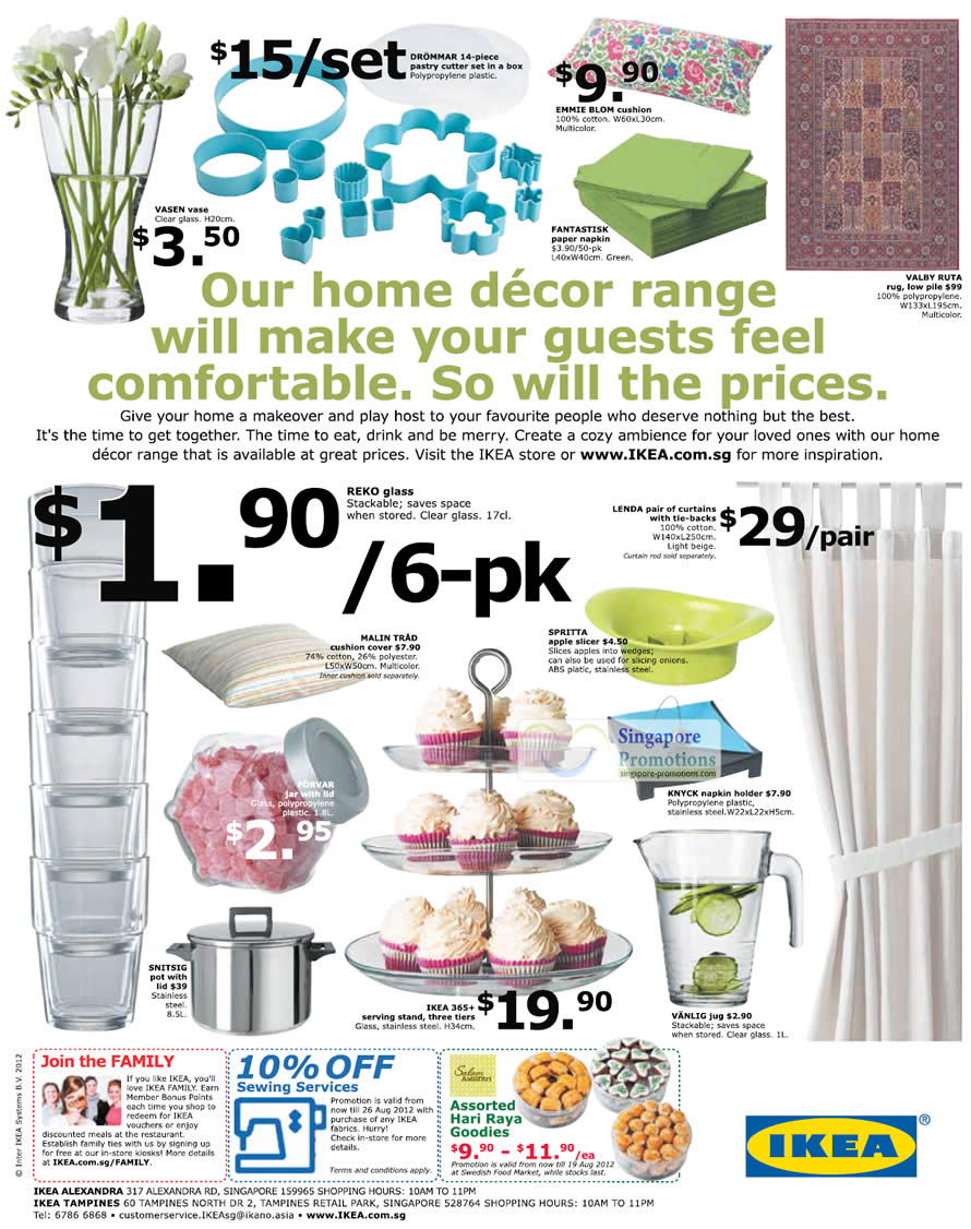Curtain, Vases, Pastry Cutter Set, Cushion