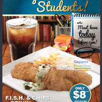 Read more about F.I.S.H. $8 Student Fish & Chips & Drink Promotion 2 Aug 2012