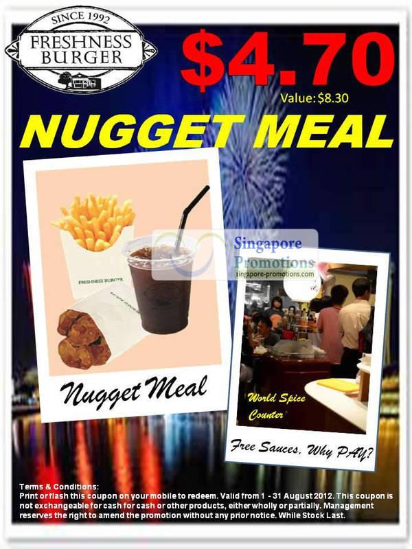 Freshness Burger Nugget 1 Aug 2012