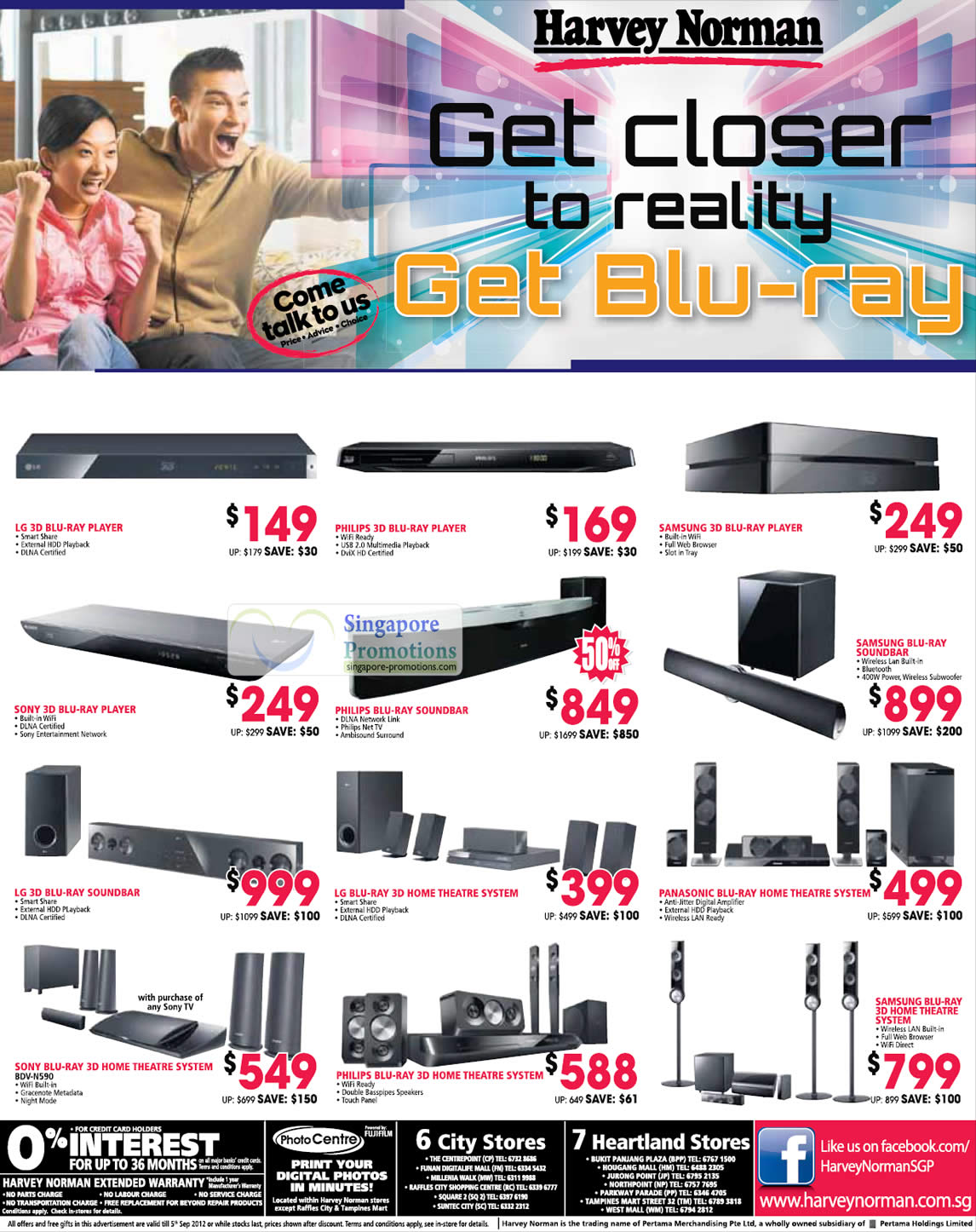 Harvey Norman Blu-ray Home Theatre Systems