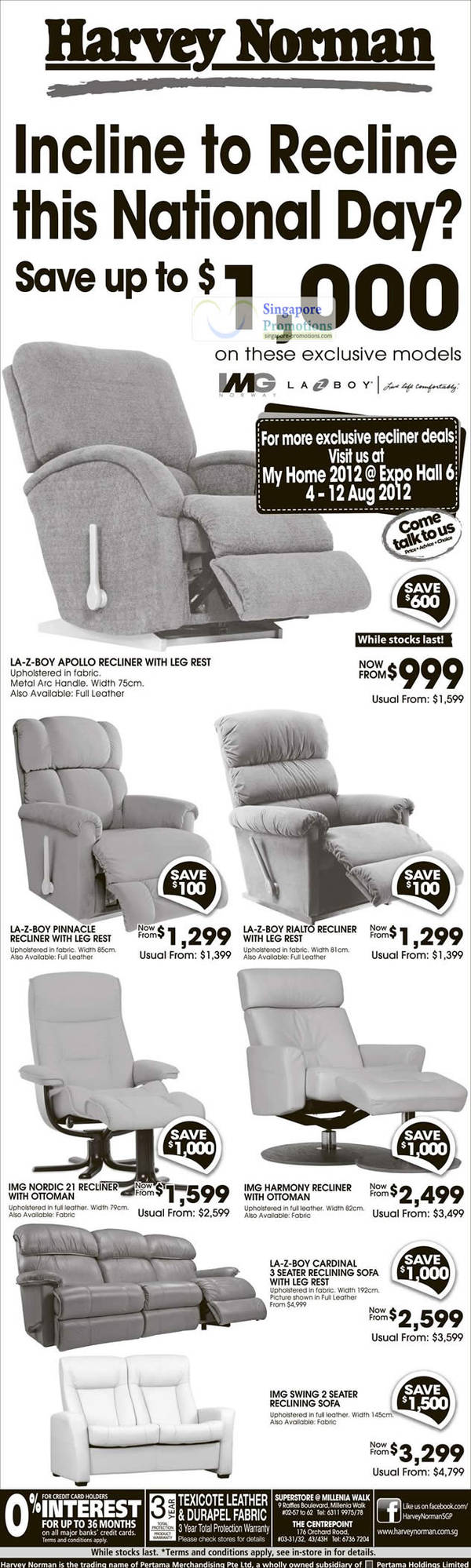 LA-Z-BOY APOLLO RECLINER, LA-Z-BOY PINNACLE RECLINER, LA-Z-BOY RIALTO RECLINER, IMG NORDIC 21 RECLINER, IMG HARMONY RECLINER, LA-Z-BOY CARDINAL 3 SEATER RECLINING Sofa, IMG SWING 2 SEATER RECLINING Sofa