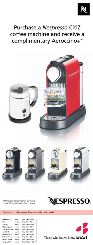 nespresso citiz coffee machine best denki panasonic other electronics promotion offers 3 6. Black Bedroom Furniture Sets. Home Design Ideas