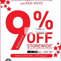 Read more about Pan-West 9% Off Storewide Sale For HSBC Cardmembers Only 8 - 12 Aug 2012