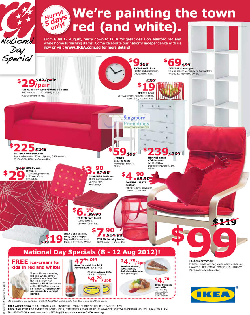 Red And White National Day Deals 187 Ikea National Day
