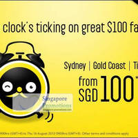 Read more about Scoot Singapore $100 Air Fares Limited Promotion 14 - 16 Aug 2012