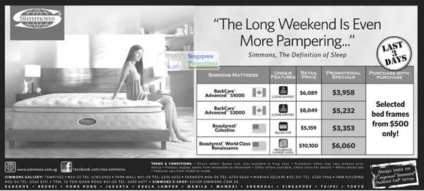simmons mattresses promotion offers 18 aug