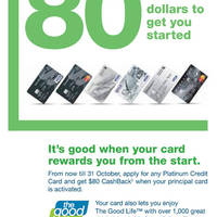 Read more about Standard Chartered Get $80 Cashback For Applying Credit Card 1 Aug - 31 Oct 2012