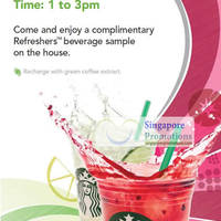 Read more about Starbucks FREE Refreshers Beverages Sample 1 - 3 Aug 2012