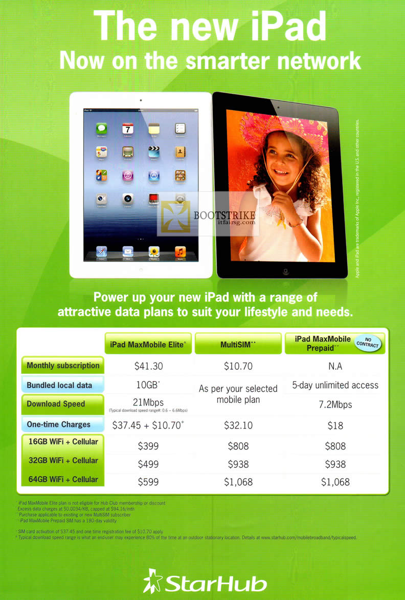 Starhub Apple iPad Plans