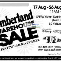 Read more about Timberland Warehouse Sale @ SAFRA Yishun 17 Aug - 26 Aug 2012