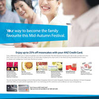 Read more about ANZ Credit Cards Up To 25% Off Mooncakes @ Various Establishments 7 - 30 Sep 2012