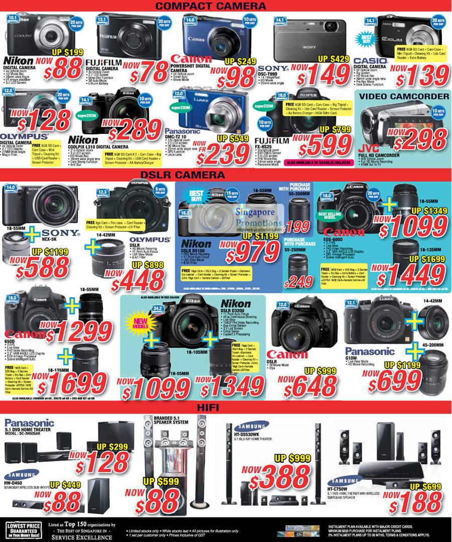Nikon Coolpix L310 DIGITAL CAMERA, Panasonic 5.1 DVD HOME THEATRE SC-XH50GAK, Samsung HW-D450 SOUNDBAR, Samsung HW-D450 Soundbar, Samsung HT-D5530WK 5.1 BLU-RAY HOME THEATRE, Panasonic Digital Camera DMC-TZ10, SONY Digital Camera DSC-T99D, FUJIFILM Digital Camera FX-HS25, SAMSUNG HT-C750W DVD Home Theatre system