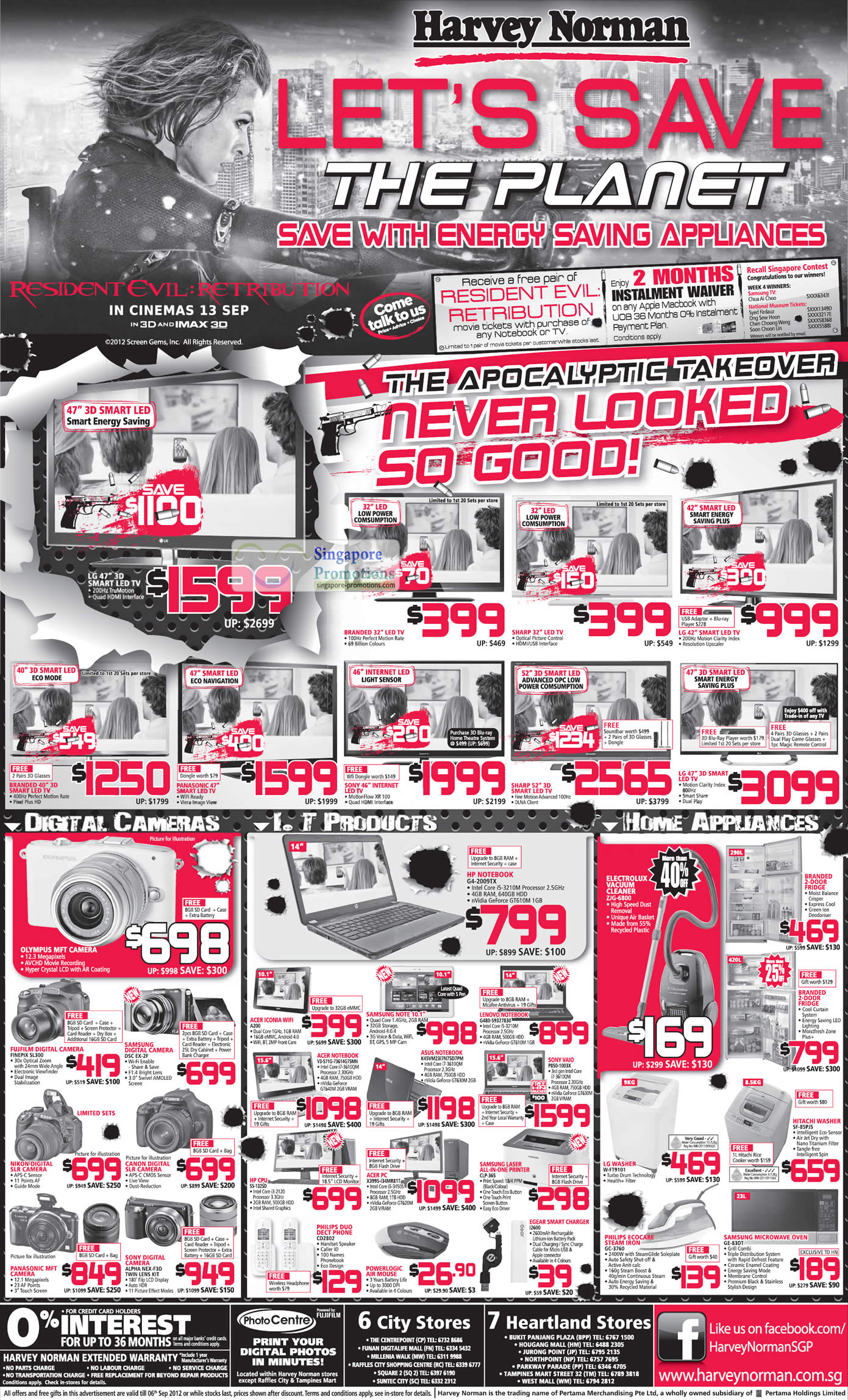 SAMSUNG Digital Camera EX-2F, FUJFILM Digital Camera FINEPIX SL300, SONY ALPHA NEX-F3D DSLR Digital Camera, HP Notebook G4-2009TX, LENOVO Notebook G480-59327830, ASUS Notebook K45VM2317N75D7PM, ACER Notebook V3-571G-73614G75MN, ACER ICONIA A200, SAMSUNG LASER Printer CLP-365, ACER Desktop PC X3995-I34MR81T, PHILIPS DDECT PHONE CD2802, EGEAR SMART CHARGER I2600, SONY VAIO P850-1003X Notebook, Electrolux Vacuum Cleaner ZJG-6800, HITACHI Washer SF-85PJS, LG Washer W-FT9101, PHILIPS ECOCARE STEAM IRON GC-3760, SAMSUNG MICROWAVE OVEN GE-83DT